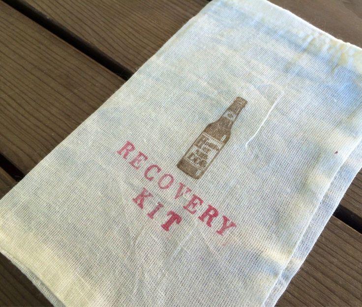 Hangover kit, groomsman recovery bag, hangover bag, recovery kit, hangover survival kit, hangover recovery kit, welcome bag