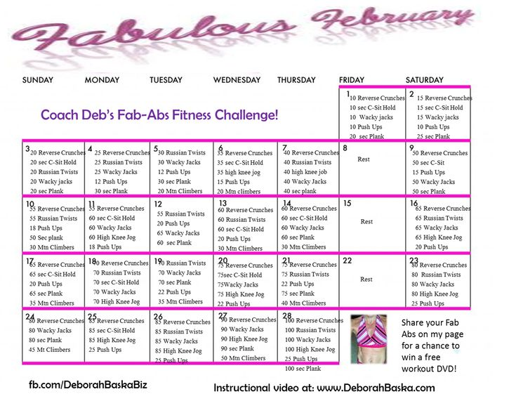 Fab Abs Workout Challenge