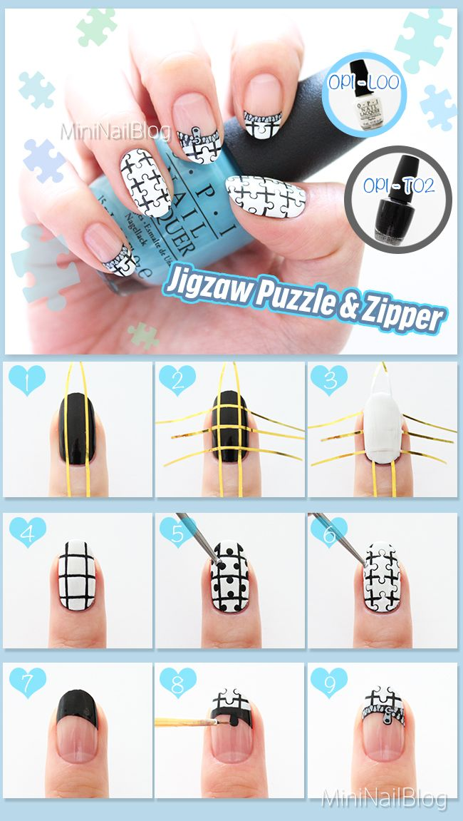 85 best nailbees nail art recipes images on pinterest nail jigsaw puzzle nail art tutorial please visit my blog for the detailsd https uv gel prinsesfo Choice Image