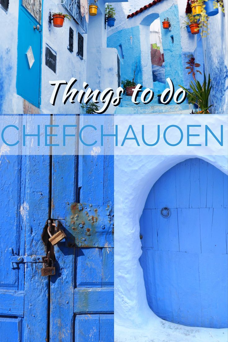Chefchaouen is the Moroccan city that is all in blue. Be sure not to miss it when you go to Morocco.