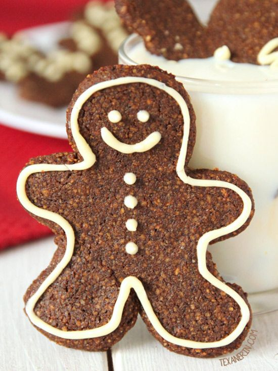 Paleo Gingerbread Men Cookies – soft and chewy! {grain-free, gluten-free, and dairy-free} from @texanerin