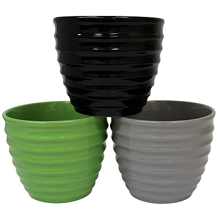Ribbed Pot  Assorted 8in