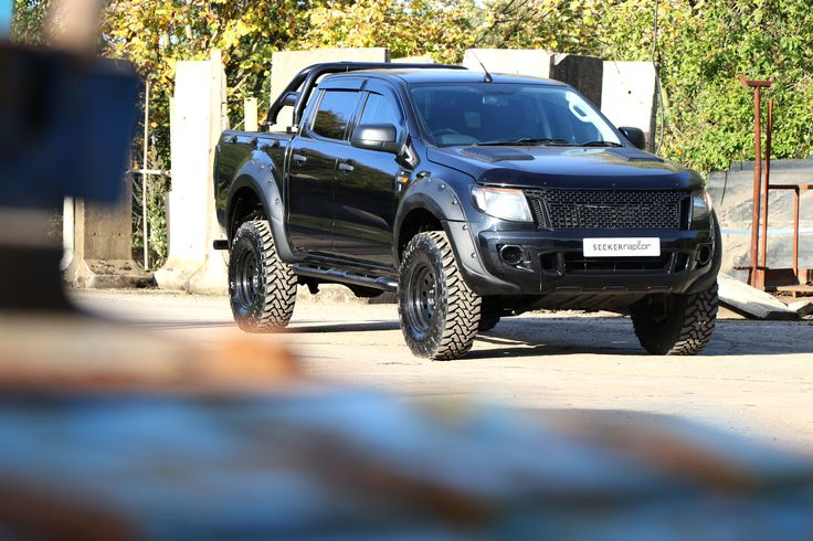 """Our SEEKER Raptor All Black Standard Edition comes with a 3"""" suspension lift kit, wide arch body kit colour coded to body colour and American style front grille. 16"""" x 9"""" steel deep dish American wheels with 285 all-terrain tyres, satin black rolls bars, side steps and window tints plus many more extras as standard.And if you're looking for that extra touch, then why not consider a matte exterior finish? Contact our sales team on 01246 269013 or by email: sales@motorseeker.com"""