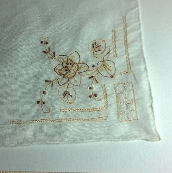 Excited to share this latest addition to our French / Breton linen collection in our #etsy shop: Found in Brittany a vintage embroidered wedding bridal ladies handkerchief. http://etsy.me/2BJ9Hi6 #art #fibreart #white #wedding #brown #linen #marriage #weave #vintage