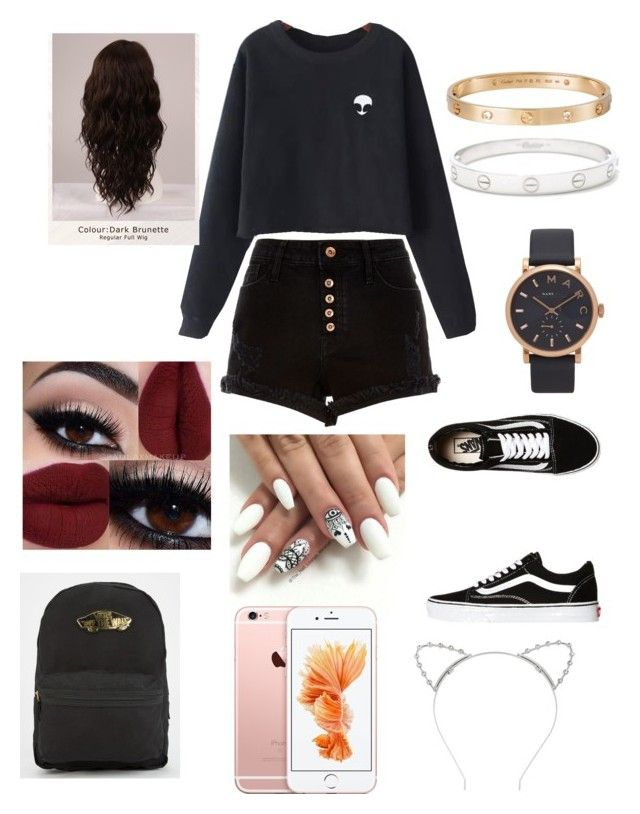 Casual Mee by tumblrcake on Polyvore featuring polyvore, fashion, style, Chicnova Fashion, River Island, Vans, Marc Jacobs, Cartier, Lipsy, WigYouUp and clothing