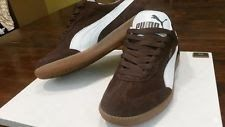 34146601 Men's Puma Liga Casual Shoes Brown Suede/White SIZE 5