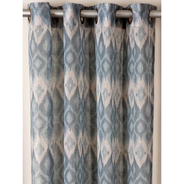 Linen Ikat Blue Drapes / Drapery. See One Of The 10 Star Furniture  Showrooms Locations