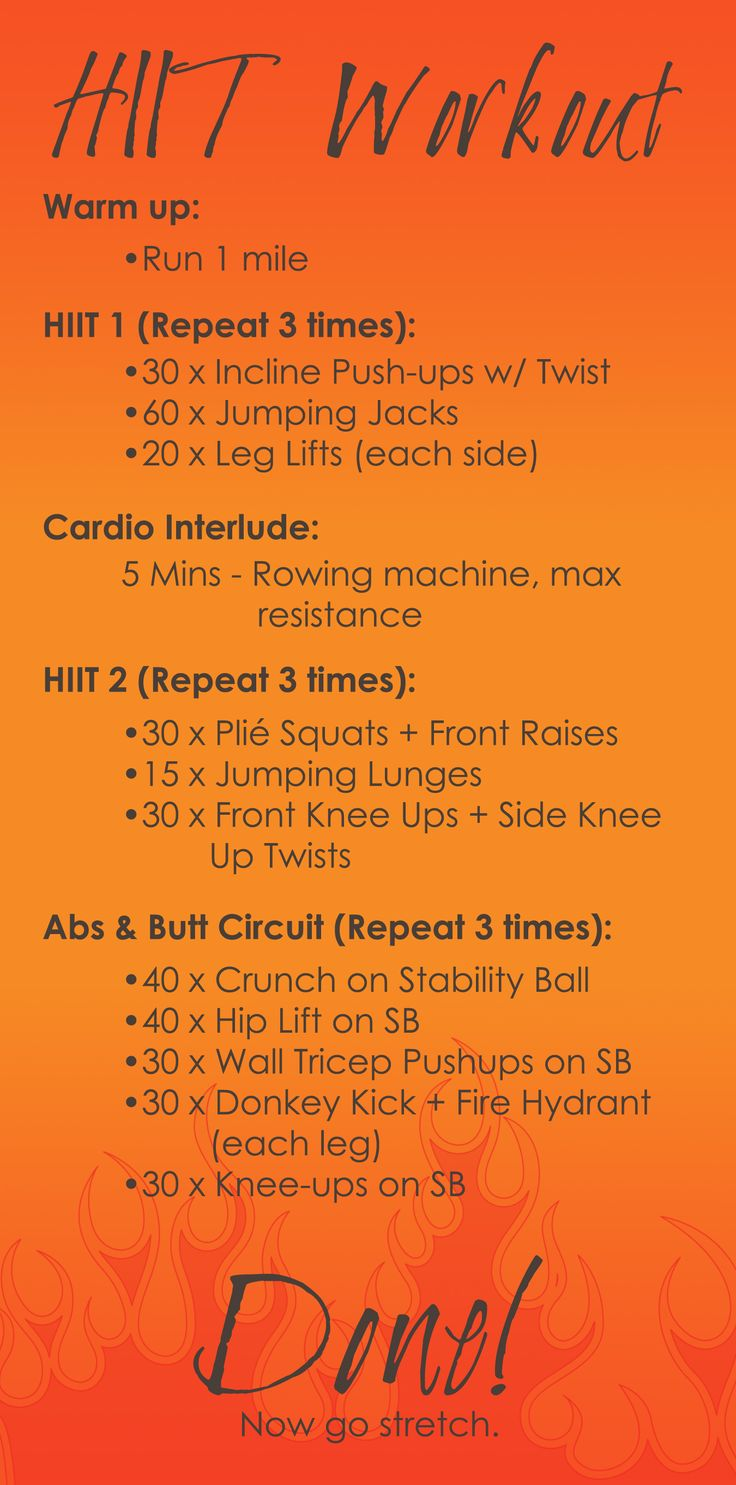 I like the warmup-hiit-cardio-hiit routine | See more about gym workouts, workouts and gym.