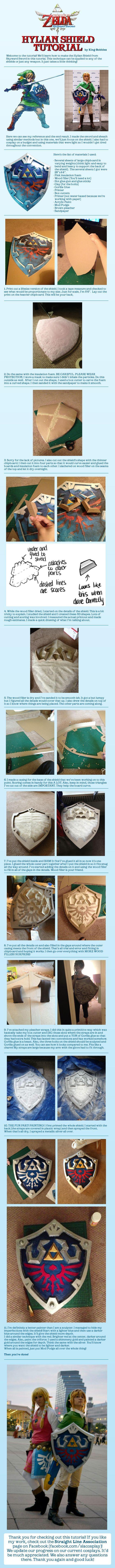 The Legend of Zelda Hylian Shield Cosplay Tutorial by http://King-Bobbles.deviantart.com on @deviantART