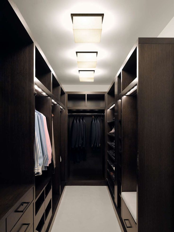 Masculine dressing room man 39 s dressing room dark wood for Walk in wardrobe closet
