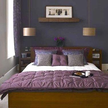 deco chambre adulte couleur peinture violet