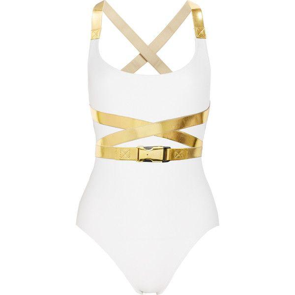 Swim suit: Metallictrim, Kors Speed, Metals Trim Swimsuits, Bond Girls, Kors Swimsuits, Michael Kors, Speed Clip, Clip Metals Trim, Bath Suits