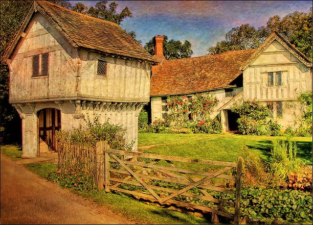 14th century manor house    		Brockhampton, Worcestershire, UKTextures by Nicholas Gent