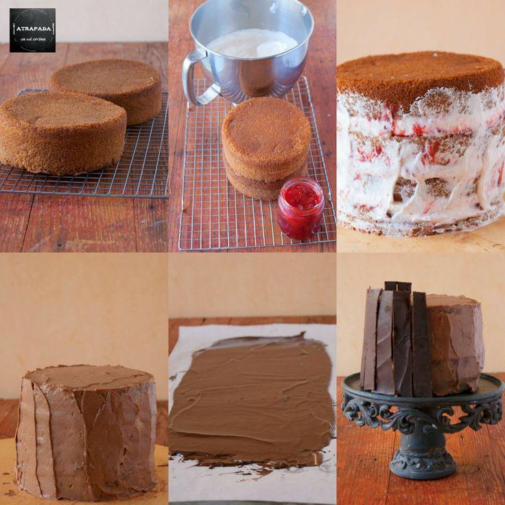 Atrapada en mi cocina: TARTA DE CHOCOLATE Y FRUTOS ROJOS (VICTORIA SPONGE CAKE), 4º ANIVERSARIO DEL BLOG