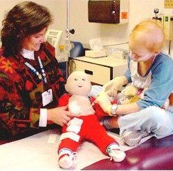 Video tutorial   DIY portacath doll   via DIY Child Life