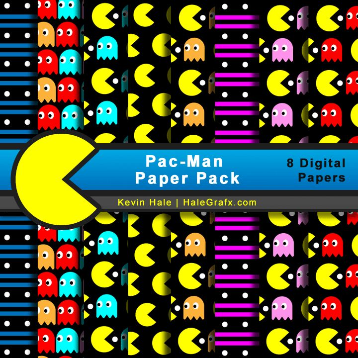 FREE Pac-Man Digital Paper Pack--Awesome backgrounds for my classroom projects