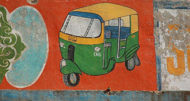 Three Wheeled. Rickshaw customisation center near Kankaria Lake. Source: Meena Kadri
