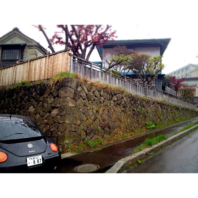 stone wall ISHI-GAKI(Otaru City)
