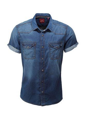 EDC / Denim overhemd in westernstijl € 29,99 bij Esprit