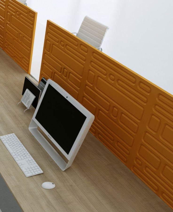 paravane acustice birouri office open space mdf 3d