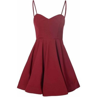 2016 Custom Simple Burgundy Homecoming Dress,Short Spaghetti straps Evening…