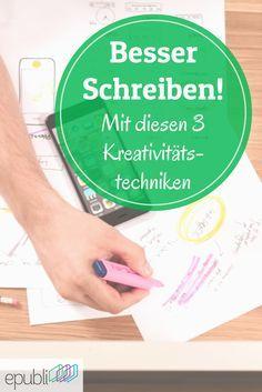 Kämpft Ihr mit einer Schreibblockade oder seid einfach auf der Suche nach neuen Ideen? Dann probiert doch mal diese Kreativitätstechniken aus! http://www.epubli.de/blog/schreibblockade-probieren-sie-diese-3-kreativitaetstechniken #epubli #schreibtipps