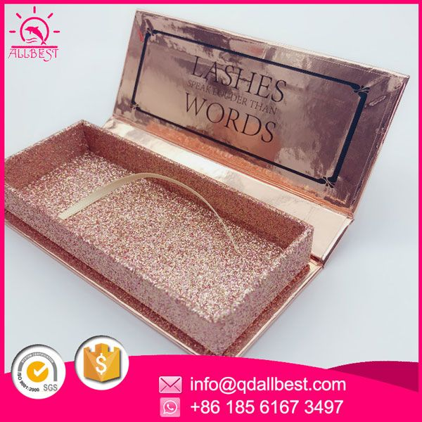 Factory wholesale custom eyelash packaging box with your