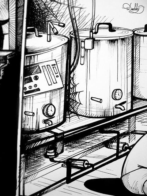 illustration by #dushky | #art #illustration #drawing #design #beer #label #comicbook #comic #hops #bereta #beretatm #citro