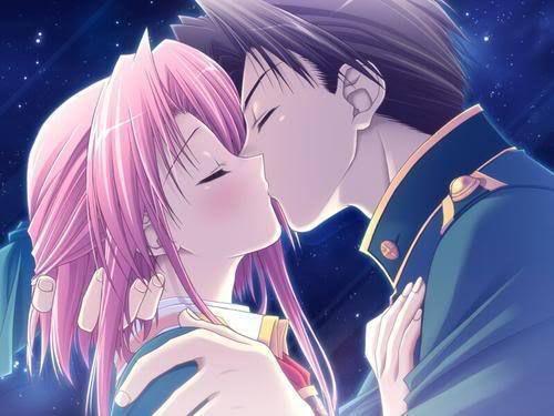 Imagenes de Dibujos japoneses Anime De Parejas Besandose