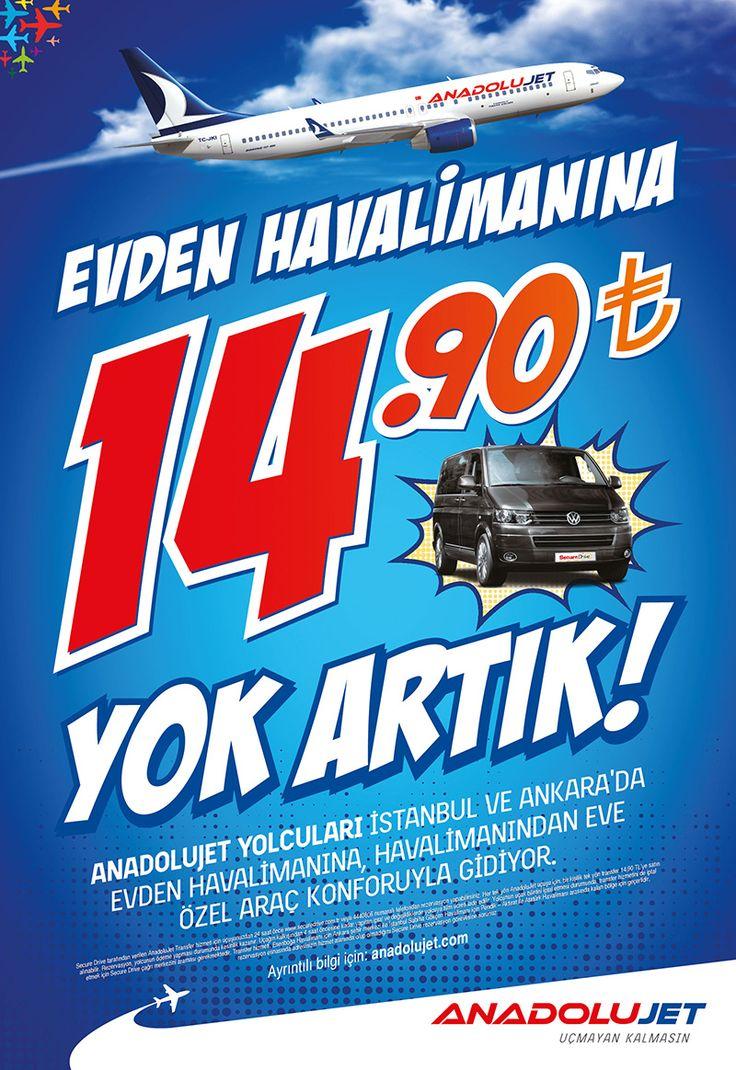 Evden Havalimanına 14,90 TL, Yok Artık | Anadolu Jet