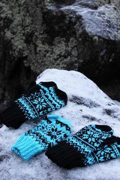 Koti kuusen alla: Talvi -lapaset + ohje knit mittens pattern
