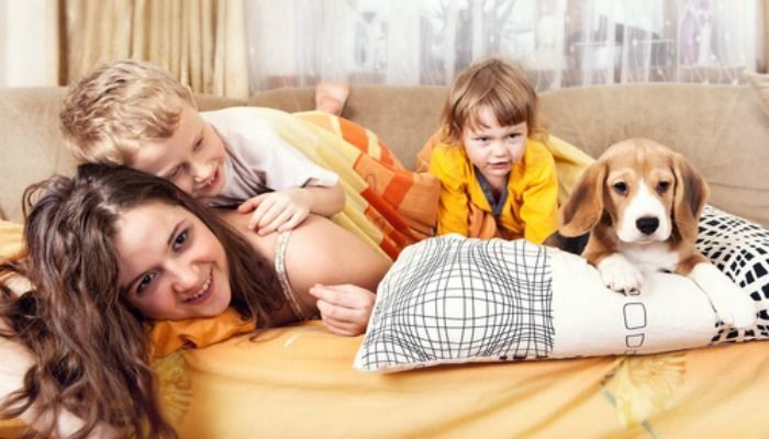 Nice article on living in a 1 bed with two children. Different perspective.