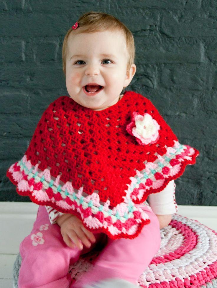 Coco Belle: Poncho met sierrand + patroon!