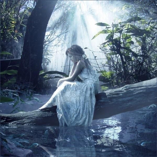 alone, girl, crying, sad, nature, sollitude