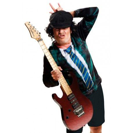 Camiseta hiperrealista de Angus Young de AC/DC  guitarrista de AC/DC? #Angus #Young #AC/DC #Disfraz
