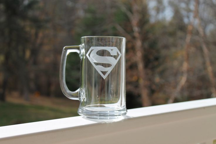 Etched Superhero Mug 10 styles 16oz etched by StoneEffectsMD