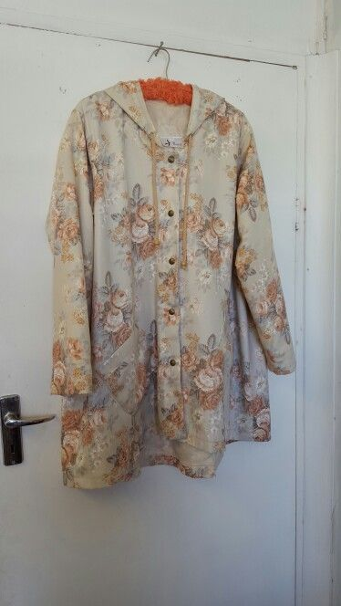 Still on the curtain repurposing mission.  My friends vintage curtains were turned into a summer coat!Aknitak Creations