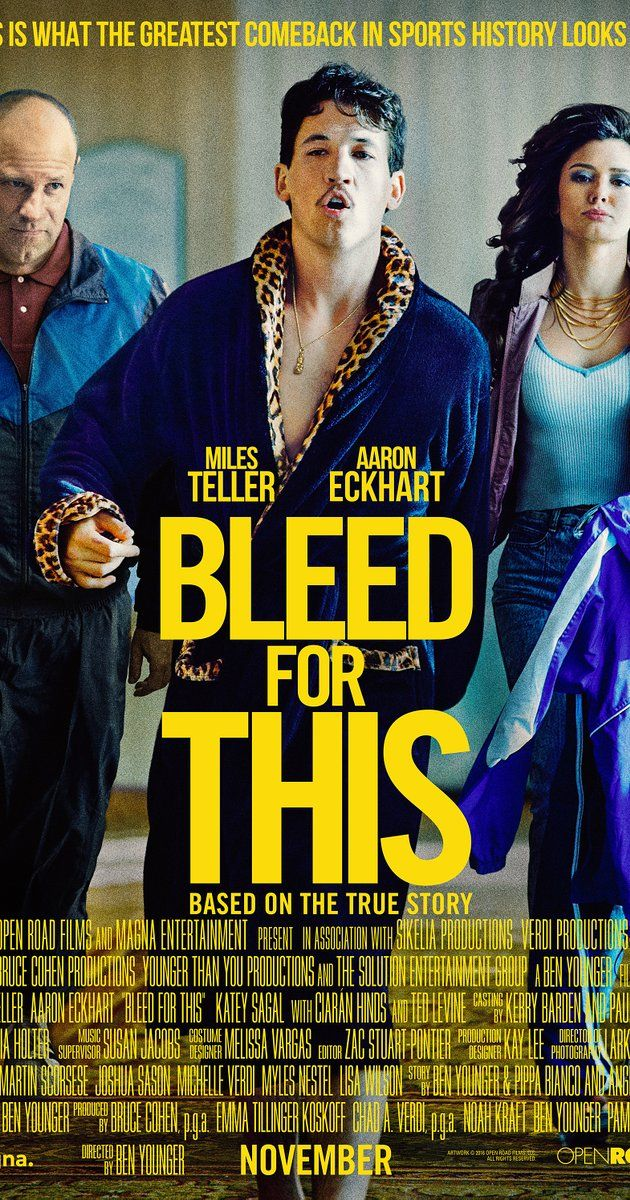 Directed by Ben Younger.  With Ted Levine, Miles Teller, Katey Sagal, Aaron Eckhart. The inspirational story of World Champion Boxer Vinny Pazienza who, after a near fatal car crash, which left him not knowing if he'd ever walk again, made one of sport's most incredible comebacks.