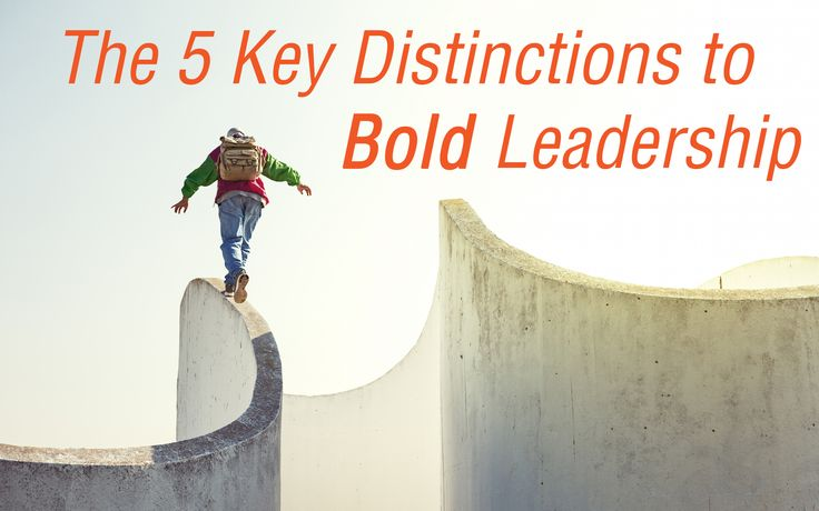 The 5 Key Distinctions to Bold Leadership