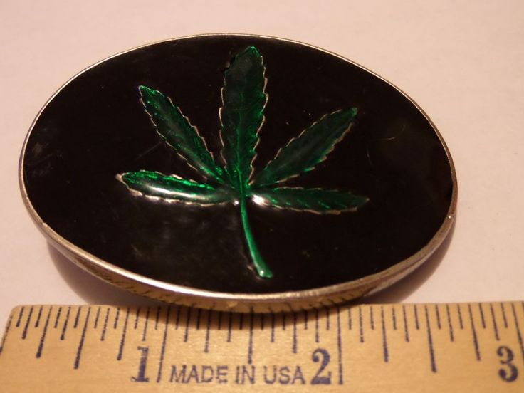 MARAJUANA LEAF BELT BUCKLE MEDICAL POT COLLIE HEALING OF THE NATIONS HERBS #Unbranded
