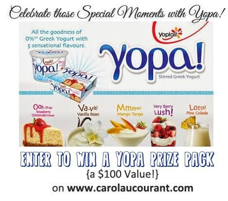 How do you celebrate those special moments? See why I call them Yopa! Moments and Enter to win an #OpaYopa Prize Pack (value of $100) on #carolaucourant: http://www.carolaucourant.com/2013/09/repose-amongst-shuffle-with-yopa.html