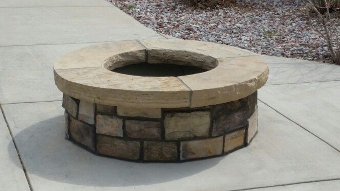 Wood burning fire pit with fire brick peckmasonry msn for What kind of bricks for fire pit