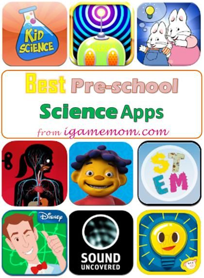 Top Science Apps for Preschool Kids - fun, hands-on, entertaining