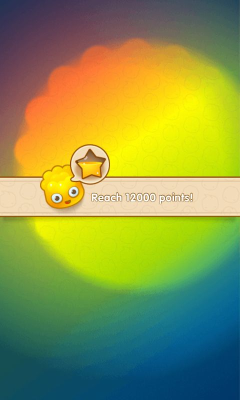 Jelly Splash by Wooga - Action Phase Objective Flyin  - Match 3 Game - iOS Game - Android Game - UI - Game Interface - Game HUD - Game Art