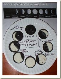 Oreo Moon Phases with FREE Printable!  #homeschool #moon #foodfun