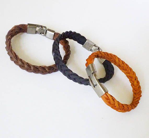 Men Leather Bracelet Leather Braided Bracelet Genuine