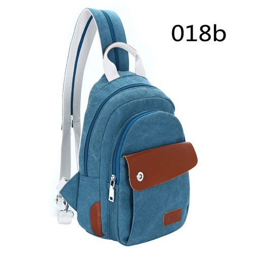 Popular Trend Unisex High-Quality Canvas Leather Crossbody One-Shoulder Backpack 5 Colors