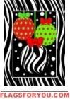 Zebra Christmas Garden Flag