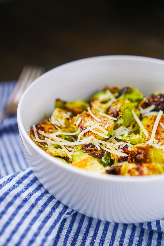 The Best Brussels Sprouts Recipe - Pan Roasted Garlic Parmesan Brussels Sprouts