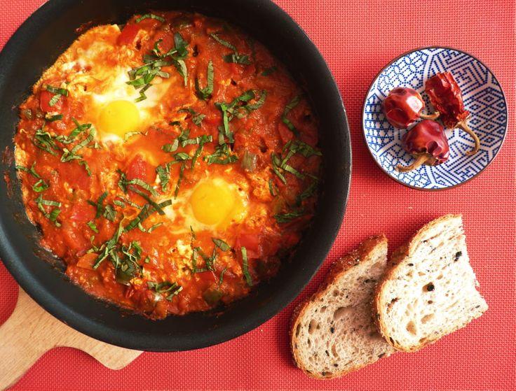 Shakshuka - arabská vejce v rajčatové omáčce - izrael